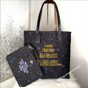 Coach x Star Wars Large Canvas Tote Pouch Set
